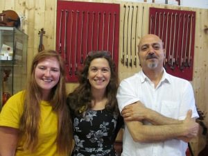 A wonderful 'trio' (Bridgette, me and Daniele)