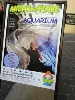 Aquarium - poster in front of the theatre