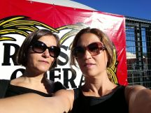 Cristina and I in front of the Adriatic Arena